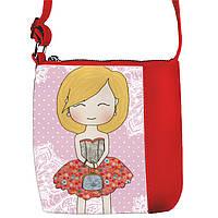 Красная сумочка с принтом Милота