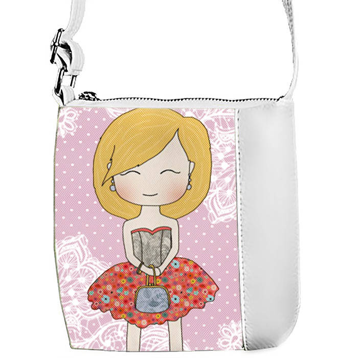 Белая сумочка с принтом Милота