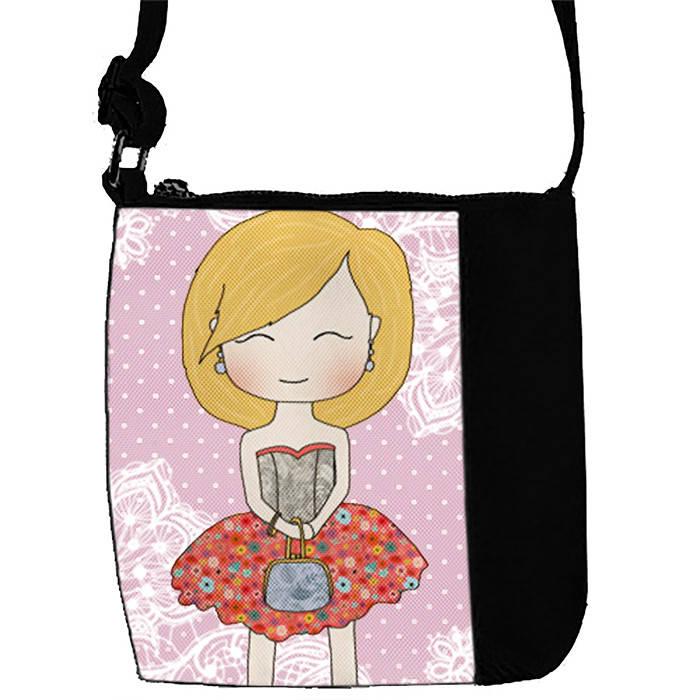 Черная сумочка с принтом Милота