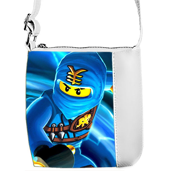 Белая сумка Mini Mister с принтом Ниндзяго