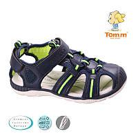 Летние открытые кроссовки, босоножки, Сандалии закрытый носок для мальчиков Том.М. размер 26-28