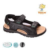 Сандалии Том.М. подростковые  черные для мальчиков Размеры   36-40