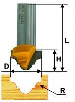 Фреза пазовая фасонная ф25.4 х16, r5.6, хв.12мм (арт.10634)