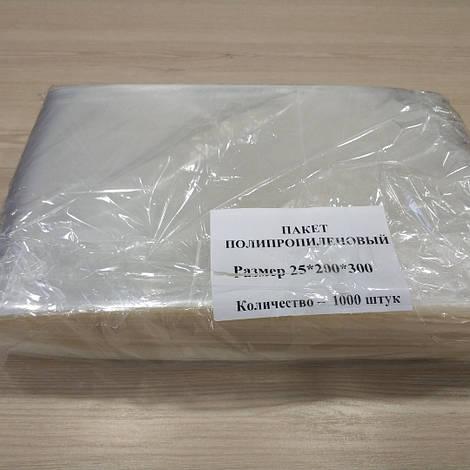 Пакет полипропиленовый 200х300мм 25 мкм уп.1000 шт