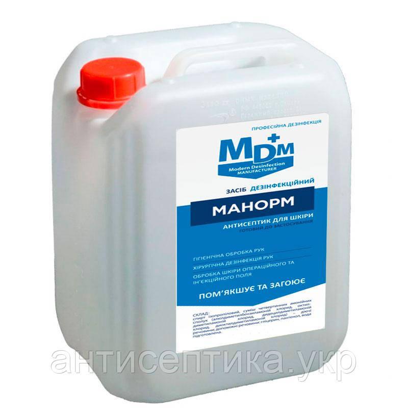 Манорм антисептик для рук и кожи, дезинфекция поверхностей 5 л.