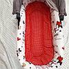 Красный матрасик в коляску + Бортики