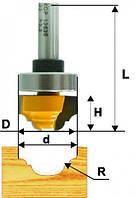 Фреза пазовая фасонная ф22х13, r3.2, хв.8мм (арт.10636)