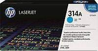 Заправка картриджа HP 314A cyan Q7561A для принтера Color LaserJet 2700, 3000 в Киеве