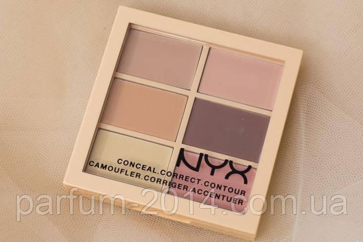 Палетка для коррекции лица nyx conceal, correct, contour palette (реплика), фото 2