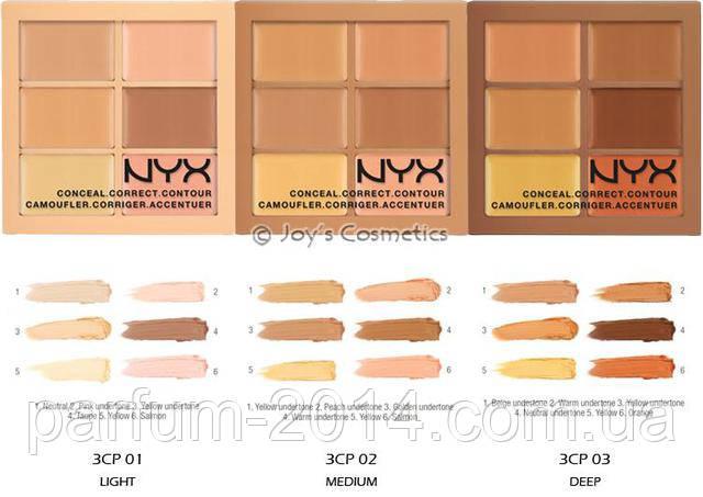 Палетка для коррекции лица nyx conceal, correct, contour palette (реплика)