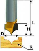 Фреза пазовая фасонная ф10х8, r4, хв.8мм (арт.10638), фото 1