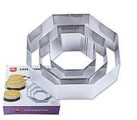 Кольцо для выпечки,  резак для торта, нержавеющая сталь, 3 шт в наборе