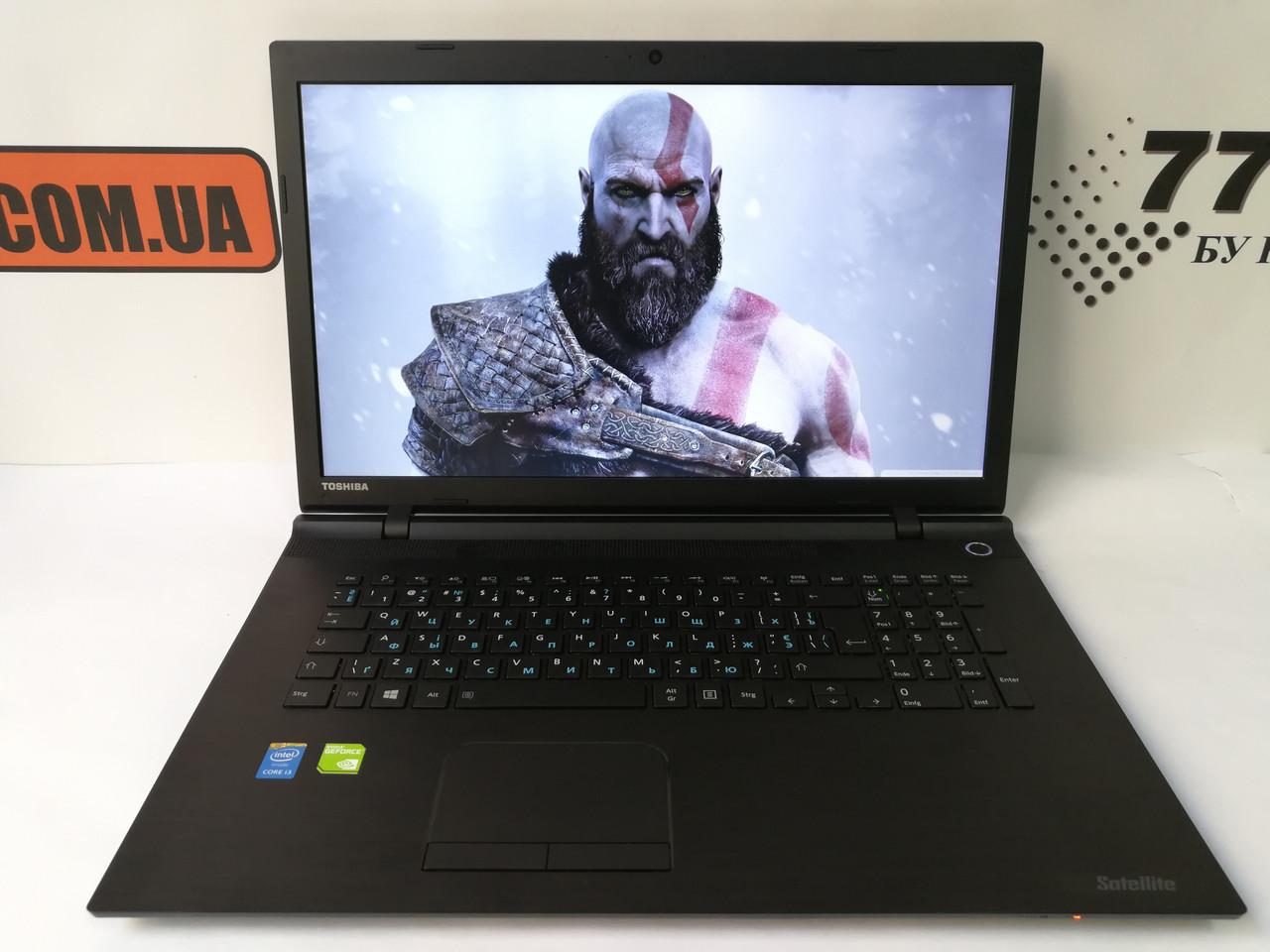 "Ноутбук Toshiba Satellite C70, 17.3"", Intel Core i3-5005U 2GHz, RAM 8ГБ, SSD 120ГБ, HDD 1ТБ, GeForce GT930M"