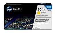 Заправка картриджа HP 504A yellow CE252A для принтера LJ CP3525dn, CP3525n, CM3530