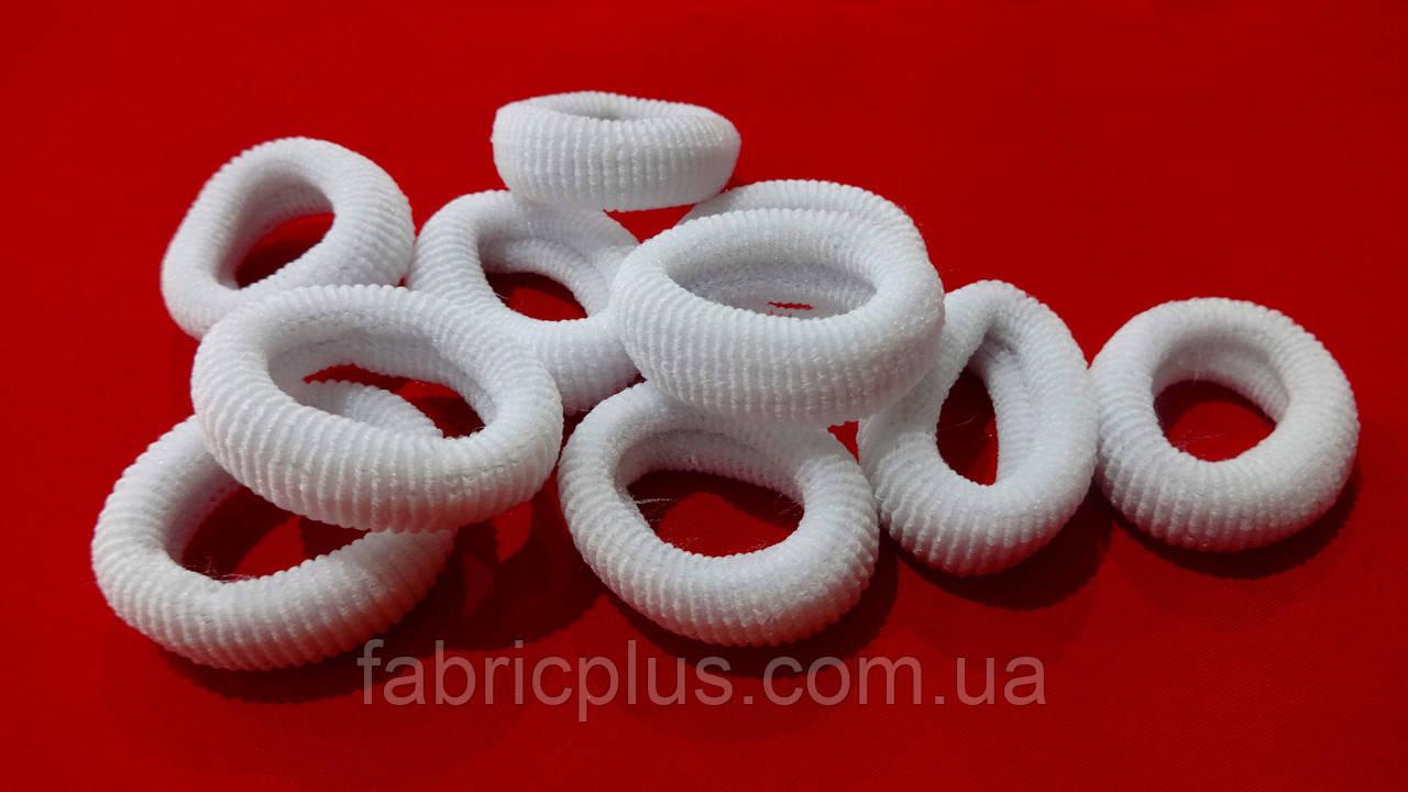 Гумка для волосся Калуш №50, біла (37х11 мм)