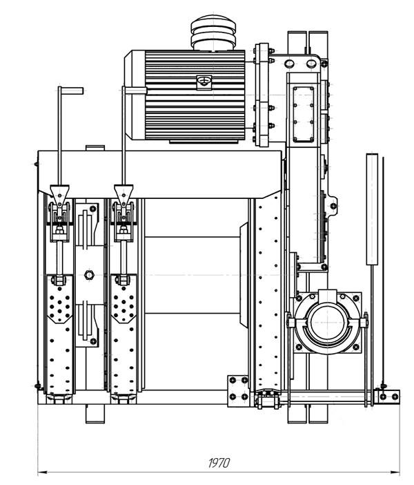 Схема лебедкиЛВ-45