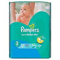 Подгузники PAMPERS Active Baby Midi (4-9 кг) Микро 15шт