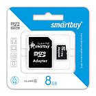 Карта памяти MisroSD 8GB SmartBuy Class 10 (с адаптером SD)