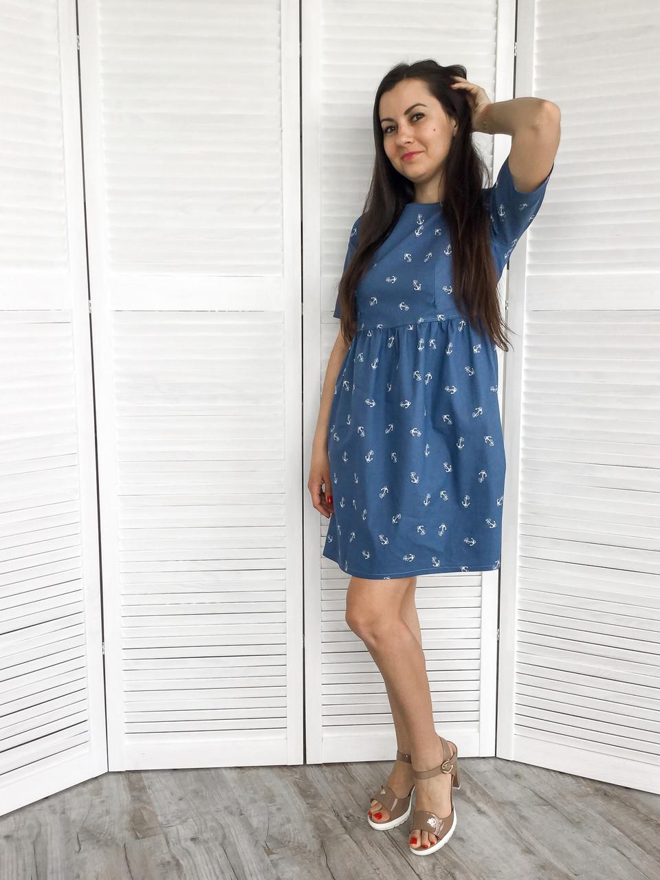 1b374431988c Джинсовое платье для беременных и кормящих мам с якорем за 680 грн ...