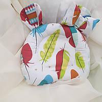 """Ортопедическая подушка """"Листочки"""" для новорожденных двусторонняя, фото 1"""