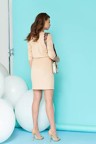 Элегантное женское платье A-80 (бежевое), фото 2