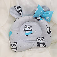 """Ортопедическая подушка """"Панда"""" для новорожденных двусторонняя, фото 1"""