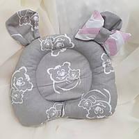 Ортопедическая подушка для новорожденных двусторонняя , фото 1