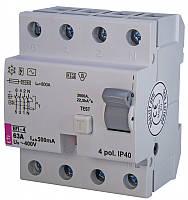 Реле дифференциальное (УЗО) EFI-4 63/0,03 тип AC (6kA)