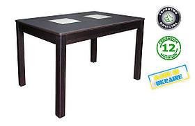 Розкладний стіл Берлін зі скляними вставками