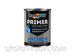Грунтовка для металла ANTIKOR 1 кг светло-серая, Kompozit