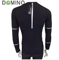 Мужской спортивный компрессионный рашгард Domino черно-серебристый, черно-золотистый