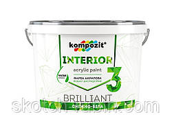 Краска интерьерная Interior 3 4.2 кг, Kompozit