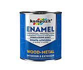 Эмаль алкидная Kompozit ENAMEL ПФ-115 0,9 кг белая