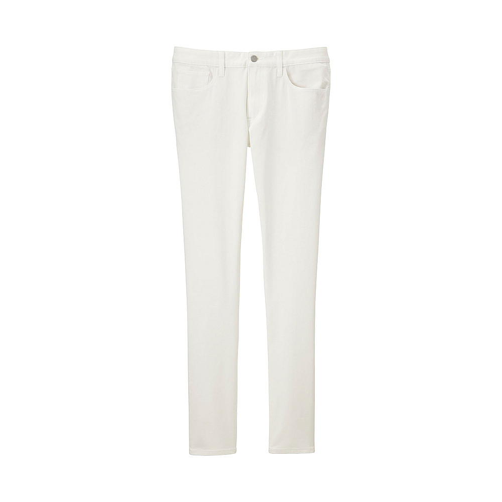 Мужские джинсы скинни Uniqlo Skinny Fit Tapered Color WHITE