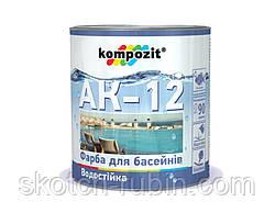 Краска для бассейнов АК-12 10 кг голубая