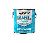 Эмаль алкидная Kompozit ENAMEL 0,9 кг снежно-белая матовая