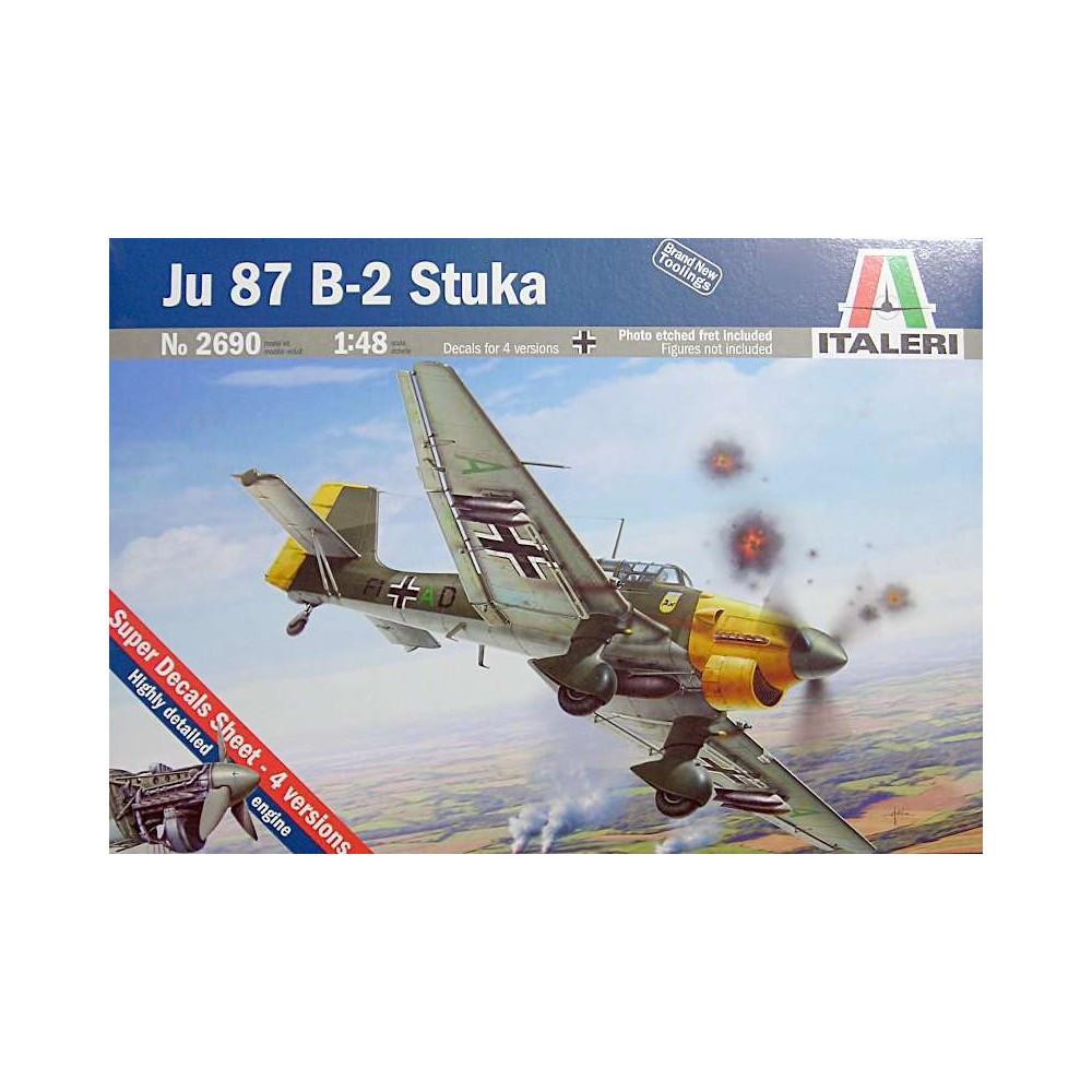 JU-87 B2 STUKA. 1/48 ITALERI 2690