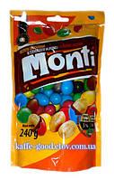 Конфетки драже Monti (Арахис в молочном шоколаде и цветной глазури) 240 гр