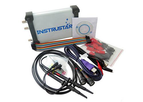 INSTRUSTAR ISDS205X USB осциллограф приставка, 2 канала 20МГц