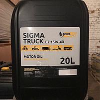 Gecco Lubricants Sigma Truck E7 15W-40 (20л) Минеральное моторное масло