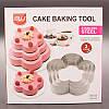"""Кільце для випічки """"Квітка"""", різак для торта, нержавіюча сталь, 3 шт в наборі"""