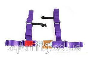 """Ремень MTuning 4p 2"""" Фиолетовый - DTM"""