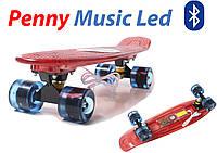 Пенни борд Penny board музыкальный Tempish красный