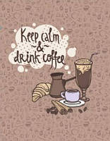 Рушник вафельний Кави Keep calm