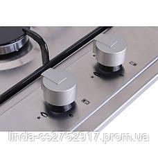 Варочная поверхность газовая VentoLux HG320 EE (INOX) 2, фото 3