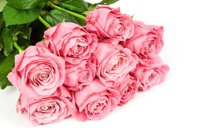 Букет долгосвежих роз Розовый Кварц