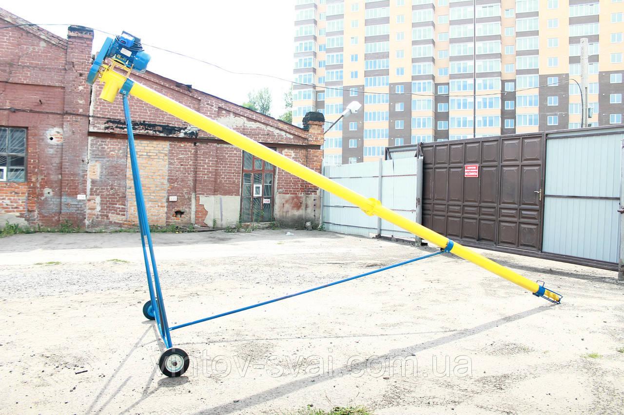 Шнековый погрузчик (транспортер, конвейер, шнек) Ø130*4000*380В