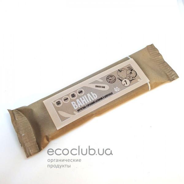 Ваниль фруктово-ореховый батончик в шоколаде Живая Кухня 40г