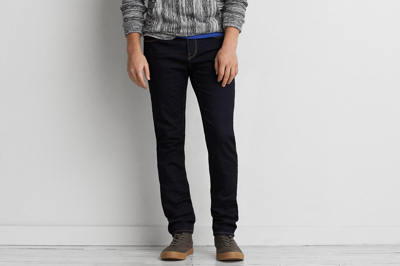 Мужские джинсы скинни AEO Flex 4/360 Skinny DK RINSE