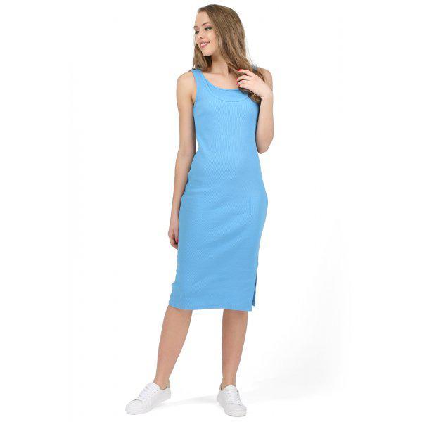 """Платье """"Кашкорсе"""" для беременных и кормящих I love mum голубое"""